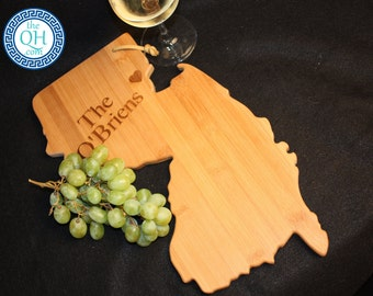 New Jersey State Shaped Cutting Board Personalized Wedding Moving New Home House Housewarming Host Hostess Closing Unique Gift