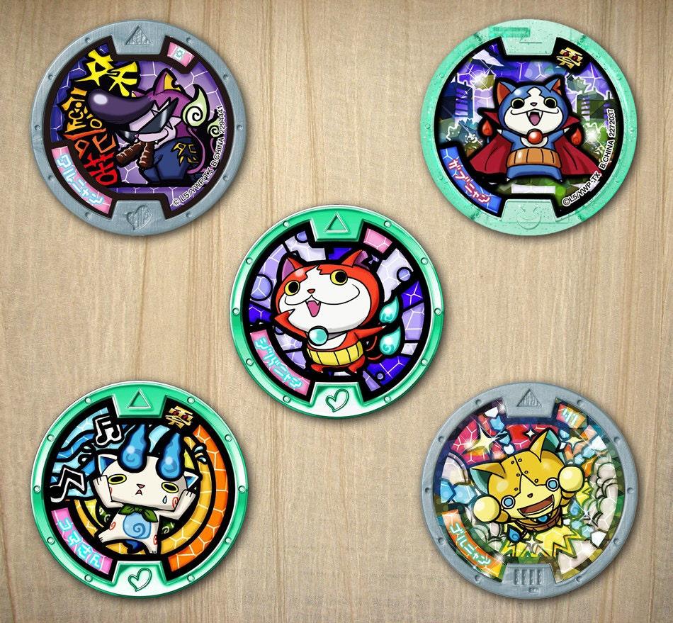 Yo-kai Watch Printable 2 Party Circles / Cupcake Toppers