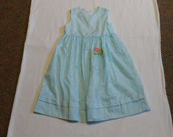 Girls' flower dress with embroidery