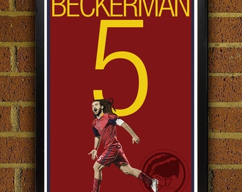 Kyle Beckerman 5 Real Salt Lake Poster - MLS - USA Soccer Poster- 8x10, 8.5x11, 13x19, poster art, wall decor home decor, gift