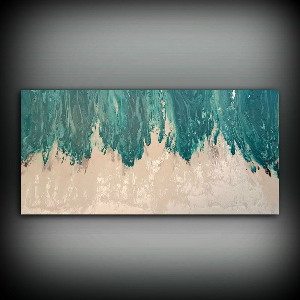 art painting acrylic paintings xl extra large abstract canvas art teal home decor wall art. Black Bedroom Furniture Sets. Home Design Ideas