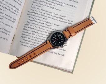 Watch strap hand stitched Leather watch strap 18 mm Wrist watch strap 20 mm Men watch strap 22 mm 24 mm Personalized leather watch strap men
