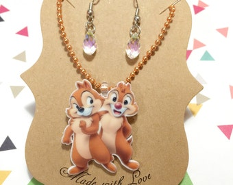 Chip and Dale necklace Set