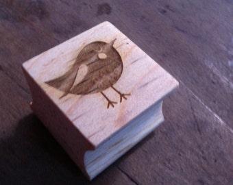 Laser Rubber Bird Stamp