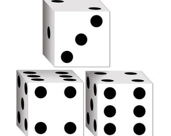 DICE PRINT Favor Boxes game night party supplies decorations birthday casino poker party table centerpieces