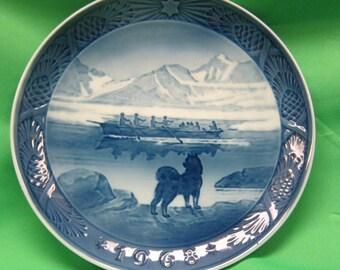 1968 Royal Copenhagen Plate - The Last Umiak