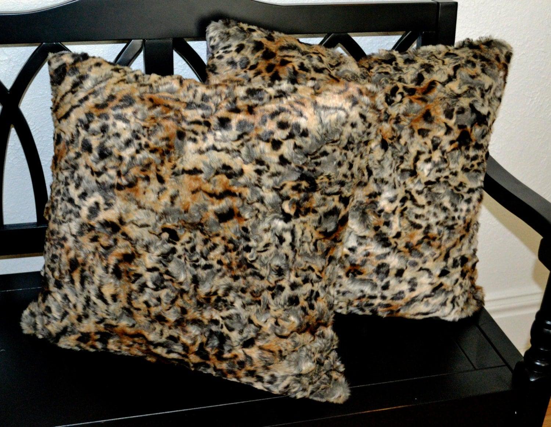 Faux Fur Pillow Fake Fur Pillow 20x20 Decorative Pillow