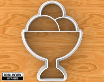 Ice Cream Cookie Cutter, Selectable sizes