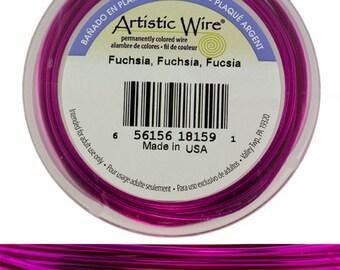 Artistic Wire SP Fuchsia Color 20ga - 25 Foot Spool  (WR36520)