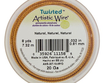 Artistic Wire Twisted Natural Copper 20ga - 8 Yard Spool  (WR51420)