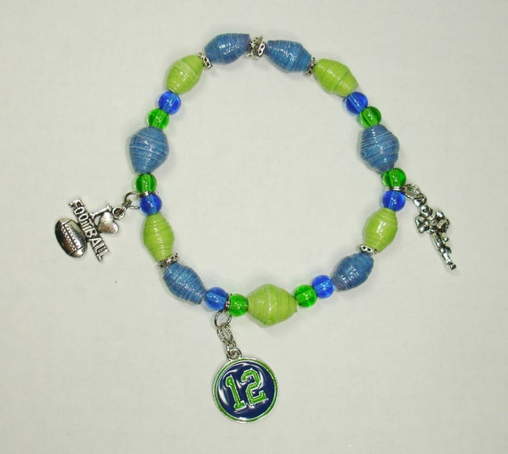 handmade jewelry seattle handmade paper bead bracelet jewelry seattle seahawks 7432