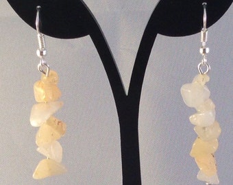 yellow topaz gemstone dangle earrings