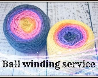 Ball winding service