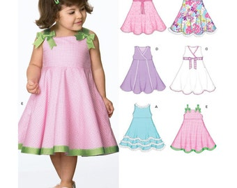 New Look Sewing Pattern 6688 Toddlers' Dress  Size:  A  1/5 - 4  Uncut