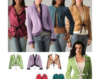 Simplicity Sewing Pattern 0635 Misses' Jackets Size:  R5  14-165-18-20-22  Uncut