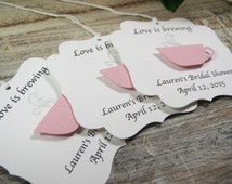 Bridal shower favor tags, Love is brewing wedding favor tags, tea party favor tags, tea cup favor thank you tags, coffee cup favors