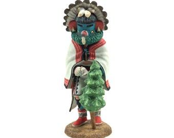 "Vintage Hopi Kachina ""Morning"" Talavi Figurine by Lowell Talashoma, Native American Decor SMPOST"