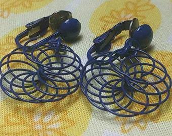 Vintage sprial wire earrings