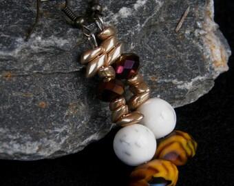 Harvest Moon Beaded Earrings