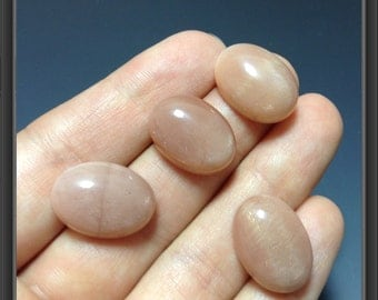 Gold Sand Moon Stone cabochon 13 x 18mm