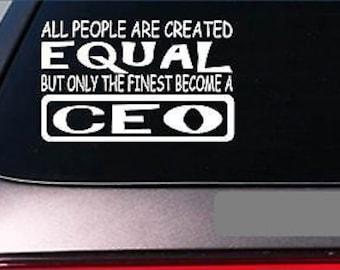 "Ceo Equal Sticker *G624* 8"" Vinyl Executive Chair Desk Laptop Office Computer"