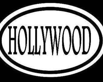 Hollywood Sticker Decal Movie Star Act Vacation Beach Honeymoon Wedding Love