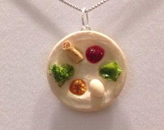 Jewish food charm - Polymer clay seder plate