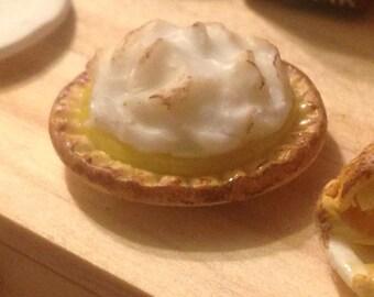 Dollhouse Miniature Food - Polymer Clay Lemon Meringue Pie