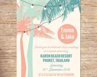 destination wedding invitation | etsy, Wedding invitations