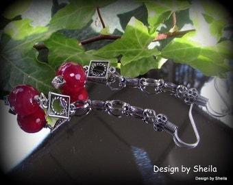 Earrings – Raspberry on a Box