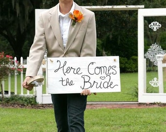 Wedding signs, Eat Drink and be Married, wood wedding signs, Here comes the bride, here comes my Mommy, country rustic wedding