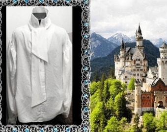 Regency Renaissance Royalty Poet Shirt w/ Detachable Tie