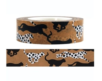 Leopard Washi Tape  - Deco tape-- 15mm x15M