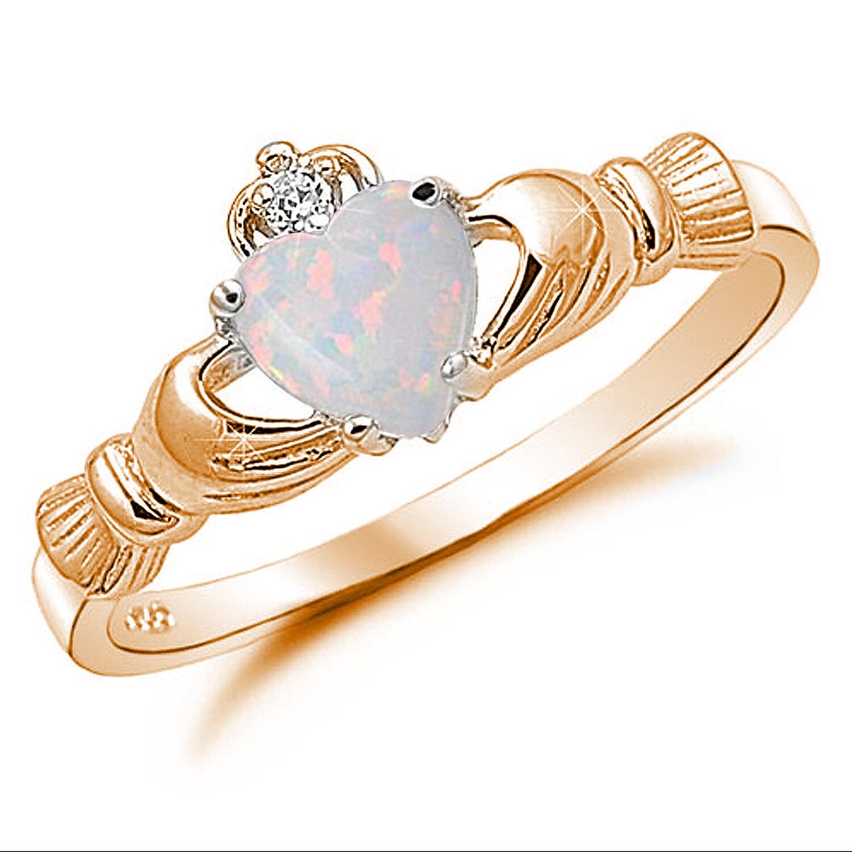 promise wedding claddagh ring rose gold 925 sterling. Black Bedroom Furniture Sets. Home Design Ideas