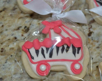 Baby Shower Cookies Zebra Prints