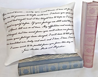 Pride and Prejudice Pillow, Jane Austen