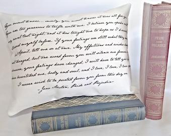 Pride and Prejudice Pillow, Jane Austen