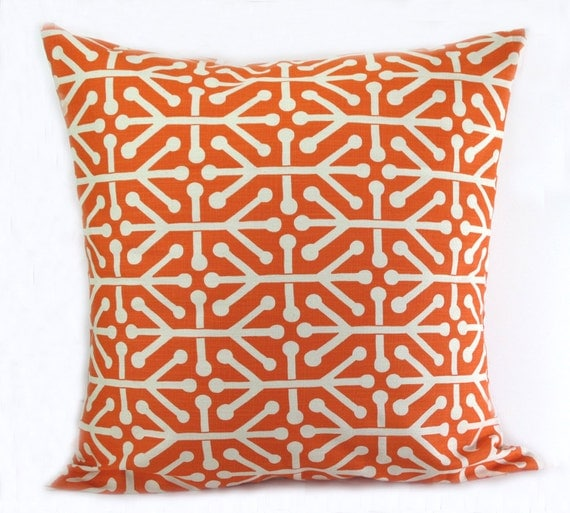 Standard Decorative Pillow Measurements : ORANGE PILLOW COVER. Many Sizes Standard. by erinlanglanddecor