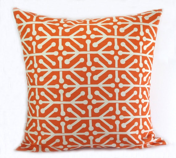 Standard Throw Pillow Cover Sizes : ORANGE PILLOW COVER. Many Sizes Standard. by erinlanglanddecor