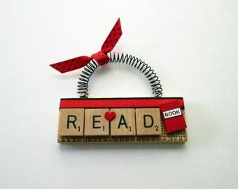Love to Read Scrabble Tile Ornament