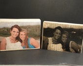 Personalize a wood block with YOUR photo - Sisters