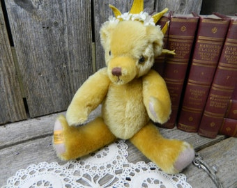 Vintage English Limited Edition Handmade Merrythought Mohair Collectible Bear
