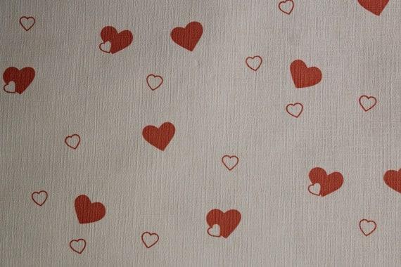 vintage 70er 80er jahre 1x rolle tapete love hearts herzen. Black Bedroom Furniture Sets. Home Design Ideas