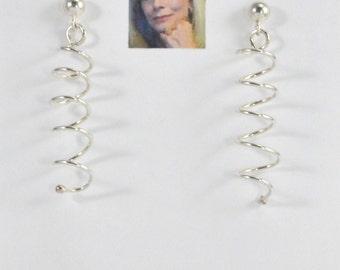 Spiral Sterling Silver Earrings CSS154E
