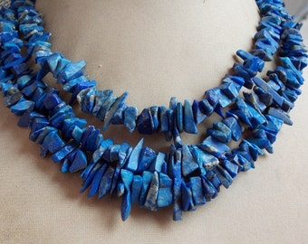 """1. Strand 15"""" Real Lapis Lazuli Rough Beads 17X4 MM Approx Finest AAA Quality 100% Natural Wholesale Price New Arrival"""
