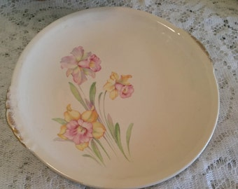 Paden City Pottery Jonquil Serving Plate or Cake Plate