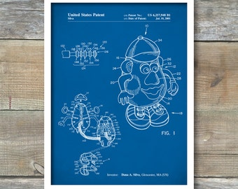 Mr. Potato Head Poster, Mr. Potato Head Patent, Mr. Potato Head Print, Mr. Potato Head Art, Mr. Potato Head Décor, P72