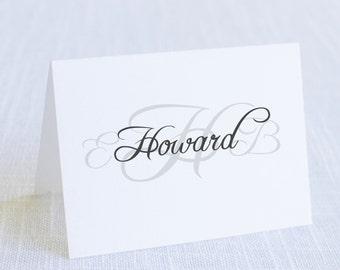 Monogram Card - Box Set of 25 / Thank You Card / Wedding Card / #109