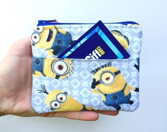 Kids Wallet Minions/Boys Wallet/Toddler Wallet/Children's Wallet/Coin Pouch/Girls Wallet/Girls Coin Purse/Ready to Ship