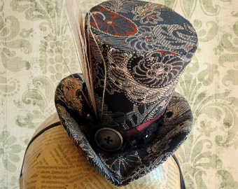 Victorian Mini Top Hat,Mad Hatter Mini Top Hat,Tea-party Mini Top Hat - Ready to Ship